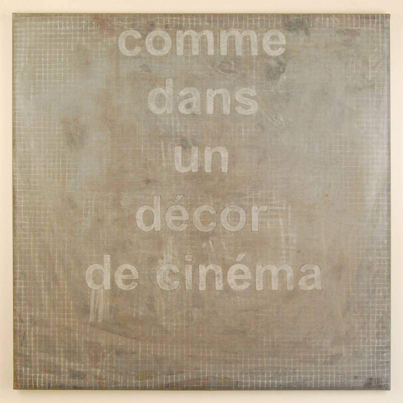 [sans titre] 2014, technique mixte sur toile, (100 x 100)cm